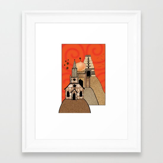 Three Hills Framed Art Print