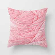 Red Feels Throw Pillow