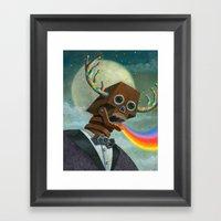 Observation Then Communi… Framed Art Print