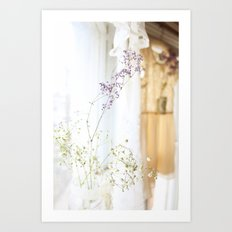 Flower and dresses Art Print