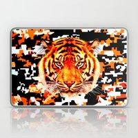 camouflage tiger on yellow  Laptop & iPad Skin