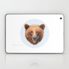 Brown Bear portrait Laptop & iPad Skin