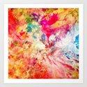 Modern Abstract Digital Painting Love  Art Print