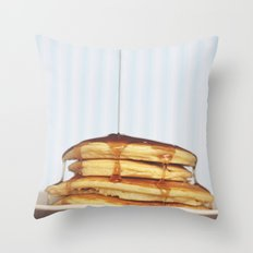 Wake Up and Smell the Pancakes Throw Pillow