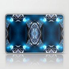 Blue Lights On Metal Laptop & iPad Skin