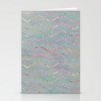 Chevron Rainbows Stationery Cards