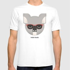 Holla Koala Mens Fitted Tee White SMALL