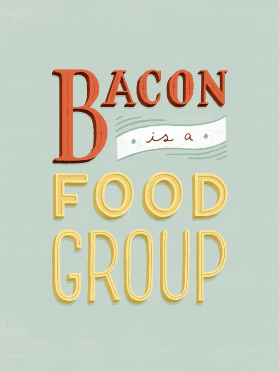 Bacon is a Food Group Canvas Print