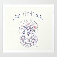 Pizza Cat Art Print
