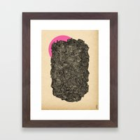 - obscure the pink shade of the sun - Framed Art Print