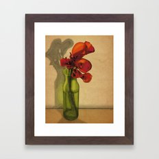 Calla lilies in bloom Framed Art Print