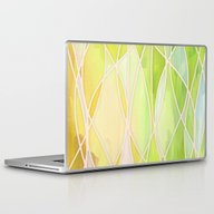 Laptop & iPad Skin featuring Lemon & Lime Love - Abst… by Micklyn