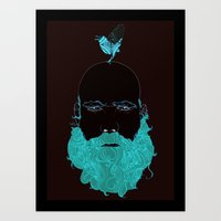 Beard And Bird Art Print