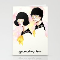 You are always home Stationery Cards