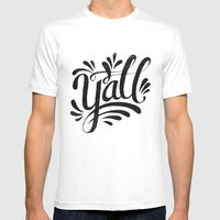 Y'ALL Mens Fitted Tee White SMALL