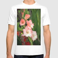 Gladioli White SMALL Mens Fitted Tee