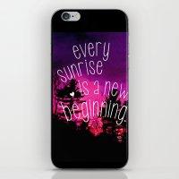 Sunrises are New Beginnings iPhone & iPod Skin