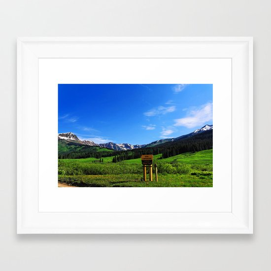 Gothic Campground Framed Art Print