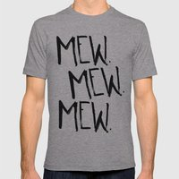 Mew. Mens Fitted Tee Athletic Grey SMALL