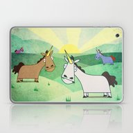 Laptop & iPad Skin featuring Grazing Unicorns V02 by That's So Unicorny