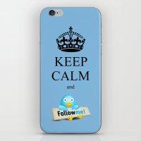 KEEP CALM TWITTER iPhone & iPod Skin