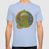 SPACE BOY Mens Fitted Tee Athletic Blue SMALL