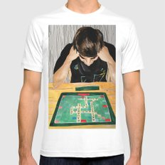 Puzzled SMALL White Mens Fitted Tee