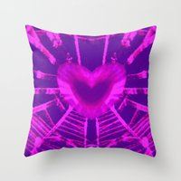 WEB OF LOVE Throw Pillow