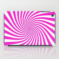 Swirl (Hot Magenta/White) iPad Case