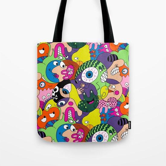 Alien Pattern Tote Bag