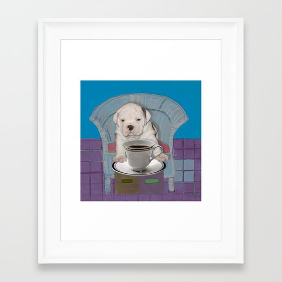 can't this wait until after my first cup Framed Art Print