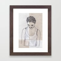 Patchwork Portrait: Katie West Framed Art Print