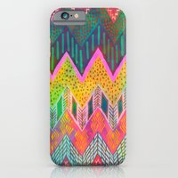 iPhone & iPod Case featuring Tribal Chevron - Yellow by Schatzi Brown