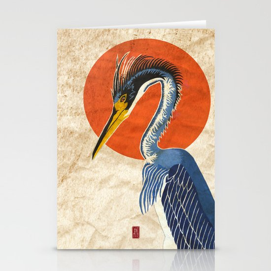 Japanese Crane Stationery Card