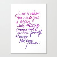 Love quotes Canvas Print