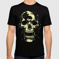 Scream (gold) Mens Fitted Tee Black SMALL