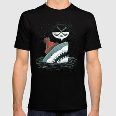 Hockey Shark Mens Fitted Tee SMALL Black