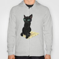 Black Little Kitty Hoody