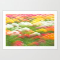 Tulip Field Abstract - H… Art Print