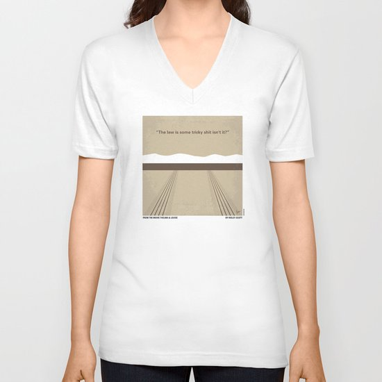 No189 My Thelma and Louise minimal movie poster V-neck T-shirt