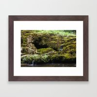 The Staburags cliff of Rauna Framed Art Print