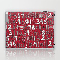 math doodle red Laptop & iPad Skin