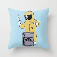 Toxic Beats Throw Pillow