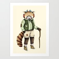 Red Panda Ranger Art Print