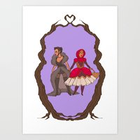 Little Red Riding Hijabi Art Print
