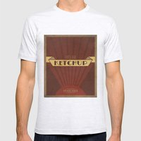 Fancy Ketchup Mens Fitted Tee Ash Grey SMALL
