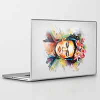 woman Laptop & iPad Skins featuring Frida Kahlo by Tracie Andrews