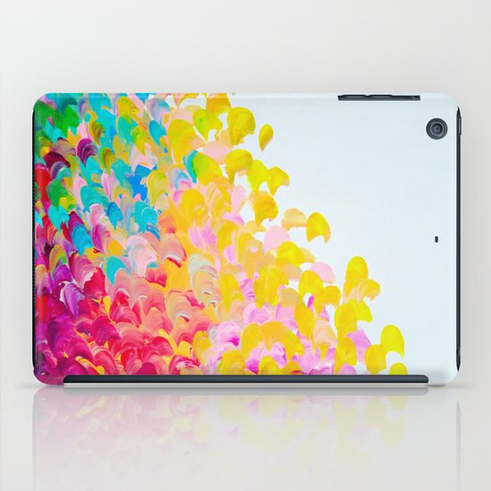 CREATION IN COLOR - Vibrant Bright Bold Colorful Abstract Painting Cheerful Fun Ocean Autumn Waves iPad Case