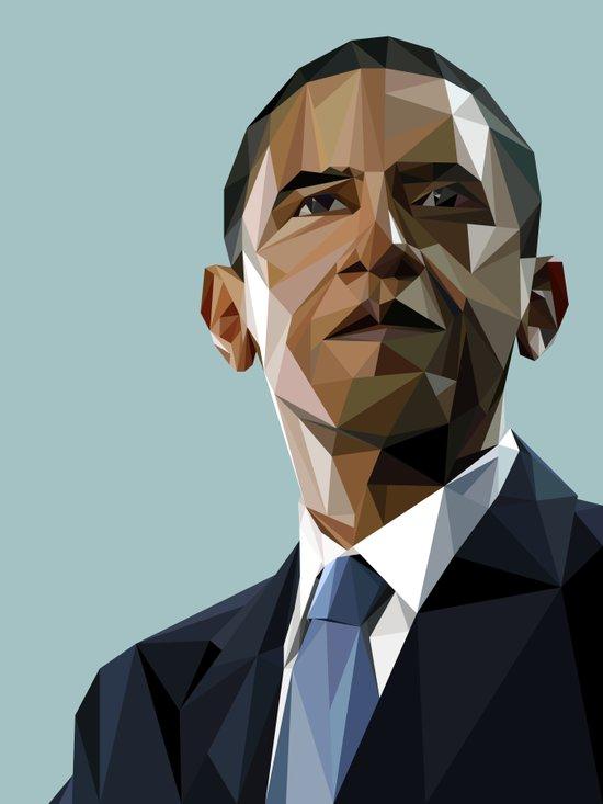 Geometric Obama Canvas Print
