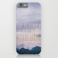 iPhone & iPod Case featuring Life is either a daring adventure or nothing at all I by Zyanya Lorenzo